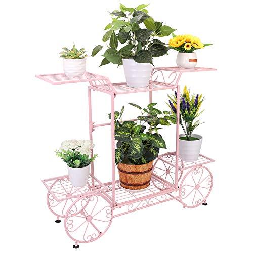 Estantería de Macetas, Soporte Plantas de Hierro con 6 Estantes, Estantería Decorativa para Jardín Exterior Interior 83 x 22 x 70cm ⭐