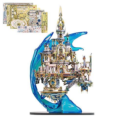 RHNTGD 3D Puzzle Atlantis Unterwasserwelt, kein Klebemodell, mit Bausatz, Kinder und Erwachsene, 280 Teile