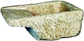 DEGARDEN Jardinera Lavadero Rústica Rural 60X42X24cm. Exterior Fabricada en hormigón-Piedra | Macetero Bebedero Decorativo Pila de Piedra Artificial Exterior jardín Color Ocre