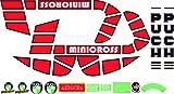 Kit de adhesivos motos clasicas Puch MINICROSS TT - Juego Pegatinas Completo - Vinilo para Moto, máxima Calidad.