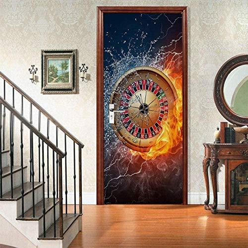 77X200Cm 3D Library WallpaperSelbstklebendes Bücherregal Bücherregal Wandbild für Studie Schlafzimmer Tür Poster Kamin Aufkleber Porte