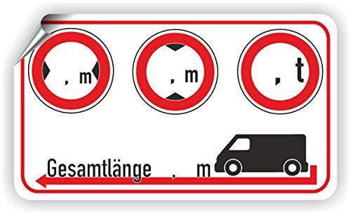 Kastenwagen/Breite/Höhe/Gewicht/Länge/Piktogramm
