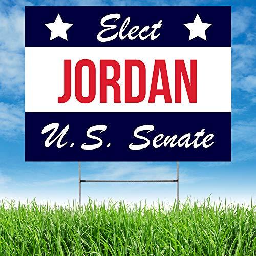 Note Card Café 2020 Political Yard Sign | USA Senate Campaign | Paulette Jordan | Made in America | Blue & White Cursive | 4 Pack