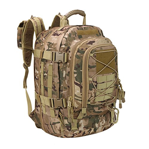 PANS Backpack Military Expandable Travel Backpack Tactical Waterproof Work Backpack for Men(Multicam)