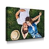 Cuadro Lienzo Canvas Personalizado con SU Foto y/o Texto – Varias Medidas - Lienzo de Tela Bastidor de Madera de 3 cm - Impresion en Alta resolución y Calidad fotografica (30, 20)
