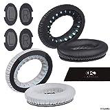 CamKix Ricambio Cuscinetti Auricolari per Cuffie Bose QuietComfort/SoundTrue/SoundLink Around-Ear - Set di 2 coppie (nero e grigio) - Modelli: QC35 II, QC35, QC25, QC15, QC2, AE2, AE2I, AE2W.