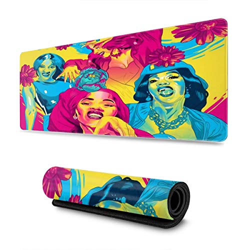 NOT Cardi B Mouse Pad Rectangular Non-Slip Rubber Electronic Sports Oversized Large Mouse Pad Game Dedicated 11.8X31.5 Inches