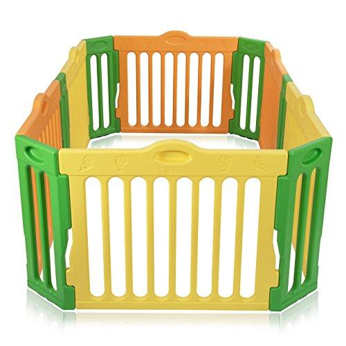 Baby Vivo Parc Bébé Barrière Securitè Plastique Enfant Protection Extensible Rectangulaire
