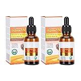 dgtrhted 2pcs Aceite de Jojoba Aceite Esencial del Masaje de Cara de la espinilla del acné Reparación poro Que Encoge Aceite Esencial