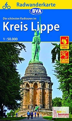 Radwanderkarte BVA Radwandern im Kreis Lippe 1:50.000, reiß- und wetterfest, GPS-Tracks Download (Radwanderkarte 1:50.000)