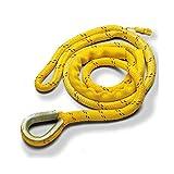 New England Ropes Mooring Line, Poly/Nylon, 5/8' x 12' w/Thimble