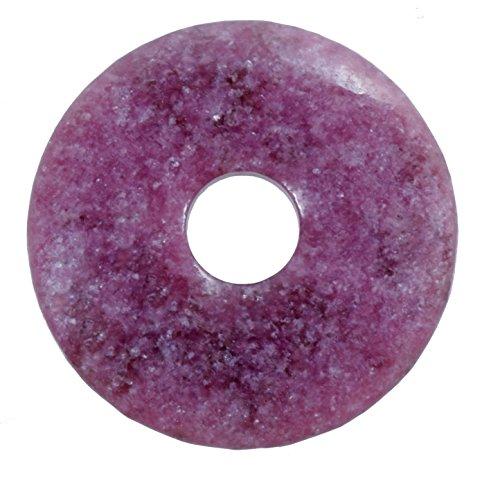 Lebensquelle Plus Lepidolith Edelstein Donut Ø 30 mm Anhänger