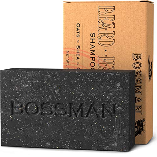 Bossman Men's Bar Soap 4-in-1 – Functions as Beard Wash - Shampoo - Body Wash and Conditioner – a Beard Care Essential (4.5oz) (Health and Beauty)