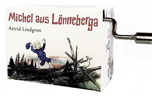 Michel aus Lönneberga Spieluhr Mini Drehorgel Michel war ein Lausejunge Kurbelwerk (balanziert über Zaun)