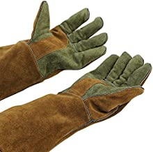 Mig/Stick Welding Gloves,Pure Leather Heat & Fire Resistant Forge Gloves Oven..