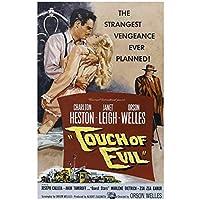 Weitaiantouch Of Evil(1958)映画ポスターキャンバス印刷絵画壁アートリビングルームの寝室の装飾-50X75Cmフレームなし