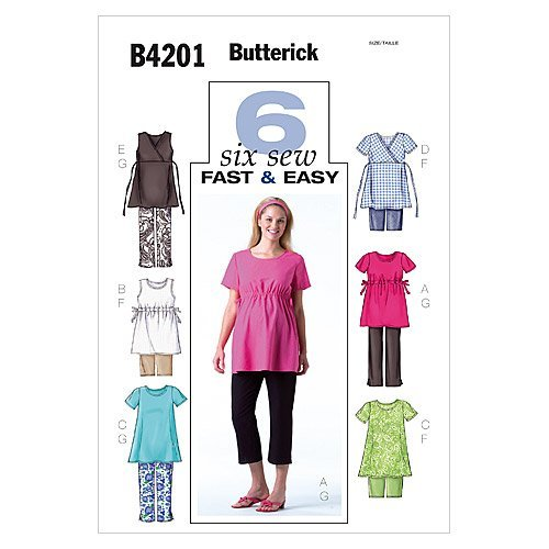Butterick Patterns 4201 Misses Maternity Top, Shorts and Pants Sizes 20-22-24
