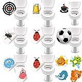 LK-Trend & Style Saubere Toiletten und Urinale für Hotels Gastronomie und Kitas durch Toilettensticker - 50 Bunte Aufkleber für das WC