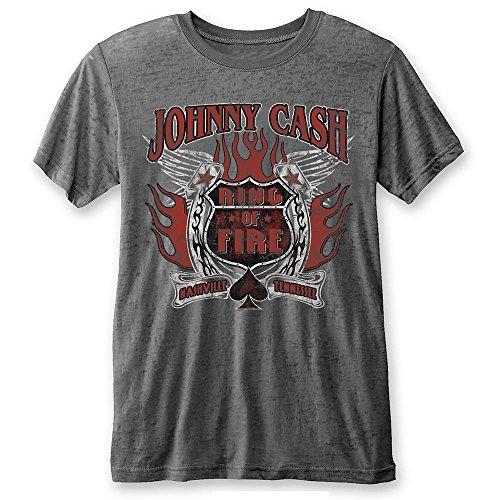 Johnny Cash - T-Shirt - Uomo Grey Large