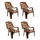 Cello Comfort Sit Set of 4 Chairs (Sandalwood Brown)