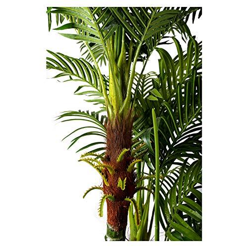 Arnusa Große Künstliche Palme Deluxe 180cm mit 3 Stämmen und 26 Palmenwedel Kunstpflanze Kunstpalme Zimmerpflanze - 7