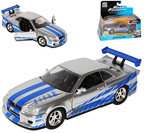 Nissan Skyline GT-R R34 Silber Brian´s Paul Walker The Fast and The Furious 1/32 Jada Modell Auto
