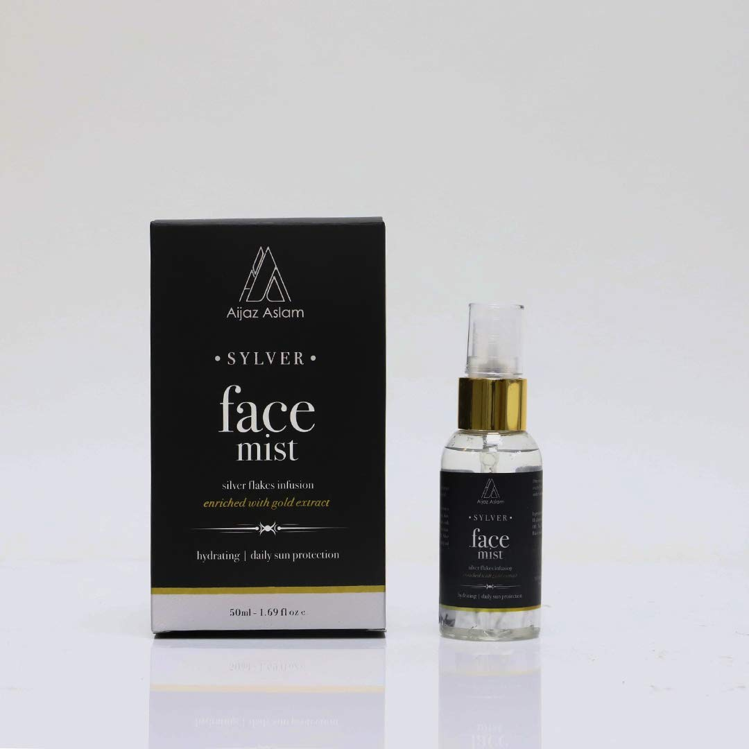 AIJAZ ASLAM Sylver Fort Worth Mall Face Mist Max 51% OFF – 1.69 Infused with Sil 50ml Oz