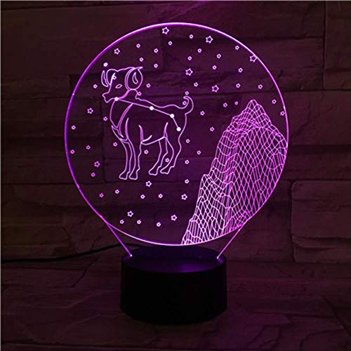 LWJZQT nachtlampje sterrenbeeld raam 3D-lamp nachtlampje led multicolor flashvakantie rekwisieten kerstcadeau voor kinderen meisjes wooncultuur
