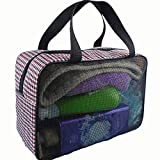 A-hyt Cómoda y cómoda bolsa de baño para hombre, impermeable, plegable, bolsa de almacenamiento de baño, fácil caminata (color: rojo)