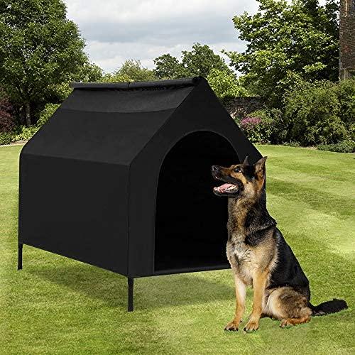 Casa para perros pequeños y medianos grandes, para interiores y exteriores, impermeable, portátil, de malla duradera, para refugio de mascotas