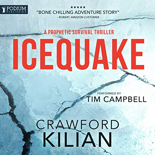 Icequake audiobook cover art