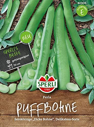 80306 Sperli Premium Puffbohnen Samen Perla | Feinkörnig, delikate Dicke Bohnen Sorte | Dicke Bohnen Saatgut