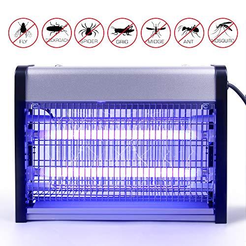 Asoway Lámpara Antimosquitos Eléctrico Mosquito Lámpara Trampa Mata Mosquitos UV 16W Trampas para Insectos Matar Mosquitos, Moscas, Polillas para Cocina, Sala de Estar, habitación, despacho