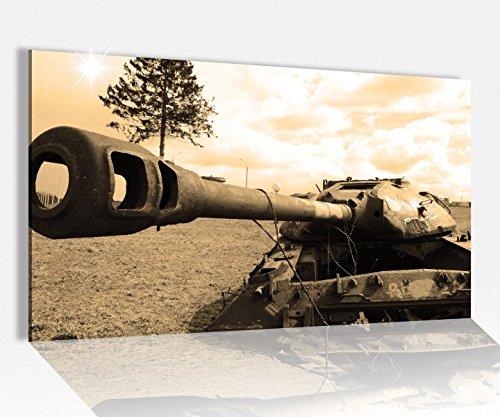 Acrylglasbild 80x50cm Panzer russisch Sepia Tank Waffe Glasbild Bilder Acrylglas Acrylglasbilder 14A3481, Acrylglas Größe4:80cmx50cm