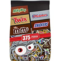 375-Piece Mars Chocolate Favorites 112.82 Oz Halloween Candy Bars Variety Mix Bag ((Twix, Milky Way, Snickers, 3 Musketeers, M&M'S Brands)