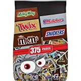 Contains one (1) 112.82-ounce 375-piece bag of Mars Chocolate Favorites Halloween Candy Bars Variety Mix Enjoy fun size chocolate candy bars from your favorite TWIX, MILKY WAY, SNICKERS, 3 MUSKETEERS, M&M'S Brands Pass out these fun-sized bags to tri...