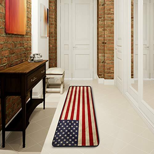 Mnsruu American Flag Star Striped United States Collection Area Teppich Teppich für Wohnzimmer Schlafzimmer Küche 61 cm x 182,88 cm (2 x 6 Fuß)