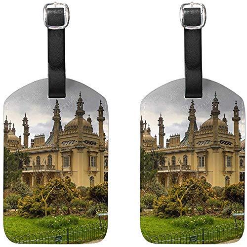 Royal Pavilion Brighton England Castle Packgepäck Koffer Kofferanhänger Reisezubehör 2-TLG