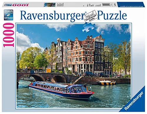 Ravensburger 19138 Puzzle - Voyage à Amsterdam - 1000 pc