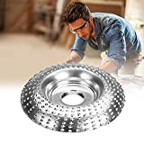 Angle Grinder Disc Wood Tungsten Carbide Grinding Wheel Carving Abrasive Disc Shaping Polishing Grinding Wheel Plate Woodworking Cutter Tool for Angle Grinder 4In/100MM