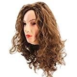 Realistic Latex Female Mask Celebrity Woman Face Rubber Mask with Wig Halloween Christmas Crossdressing Sissy Costume Party