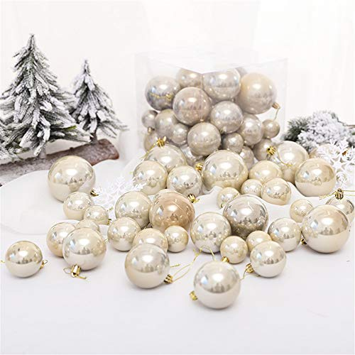 Baumkugeln 37 Stück Christbaumkugeln Weihnachtskugeln, Morbuy Kunststoff Weihnachtsbaumkugeln Plastik Bruchsicher, Weihnachtsbaumschmuck Weihnachtsdeko (Gold)