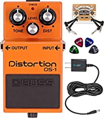PRODUCES A RANGE OF ESSENTIAL DISTORTION TONES - The BOSS DS-1 Pedal's 3-control layout enables you to pull out a subtle bite to rich crunch to all-out fuzz. Its midrange gives a distinct tonal flavor. PROVIDES MILD-TO-HEAVY GAIN - The orange stompbo...