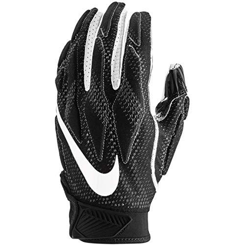 Nike Youth Superbad 4.5 Football Gloves (Black/Black/White, Small)