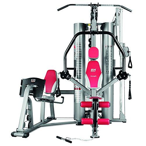 BH Fitness G157 - Banco Multiestación, Tensión Dinámica Máximum 100kg, Semipro