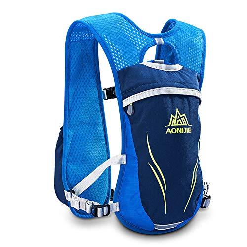 WANGIRL Running Backpack Sac a Dos Fonctionnel Léger D'hydratation Pack 5.5L Convient pour Une Bouilloire de 350 ML,Bleu