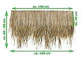 Wilai Palmendächer Strohdach Palmdach Paneele Palmschindel Palmenblätter 145 cm Reetdach für Garten, Balkon und Terrasse - 3