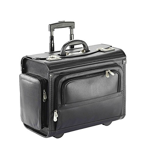 DERMATA Pilotenkoffer aus Kunststoff Trolley-System Organizereinteilung Laptop-Fach