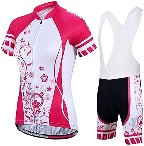 KISAD Triathlon Set Jersey in Bicicletta Tuta Gettone da Donna in Bicicletta Jersey da Donna in Bicicletta -UV Abbigliamento per Biciclette in Bicicletta Abbigliamento rapido Asciutto in Bicicletta