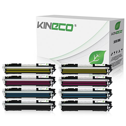 8 Toner kompatibel zu Canon 729 für Canon I-Sensys LBP-7010c, LBP-7018c, LBP-7000 Series, Lasershot LBP-7000 Series - Schwarz je 1.200 Seiten, Color je 1.000 Seiten